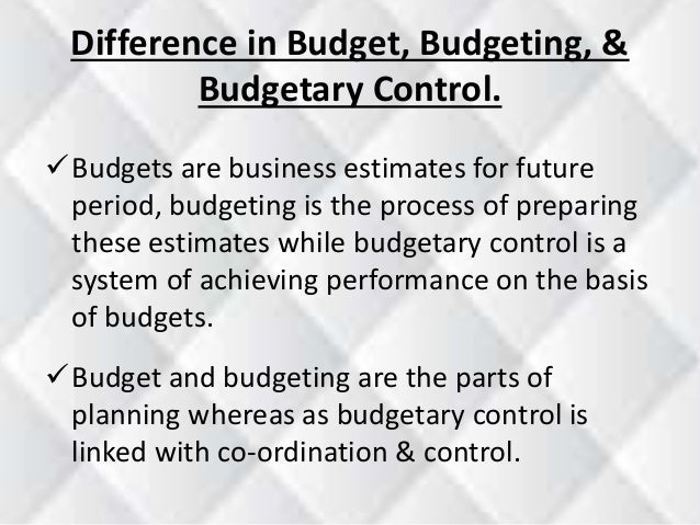 thesis budgetary controls Budget and budgetary control are the key components of any business and its decision making process a business is an organization usually set up with.