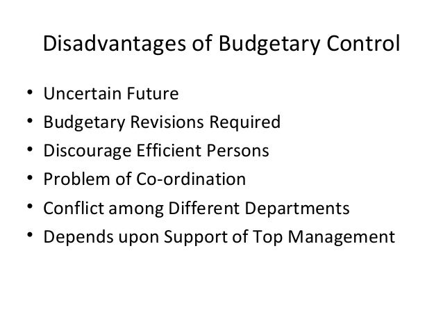 disadvantages of operating budgets Although budgeting has a lot of advantages, it has few limitations which are highlighted in the article considering all the disadvantages of budgeting, it is the decision of the top management how to do the budgeting exercise and optimize the cost to a company while setting up the budget references.