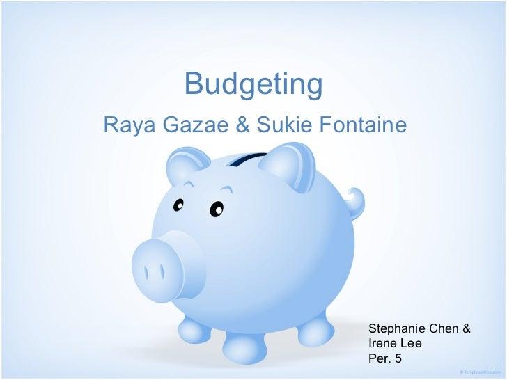 Budgeting finalfortoday