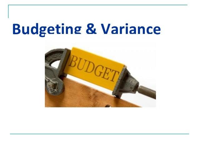 Budgeting & Variance
