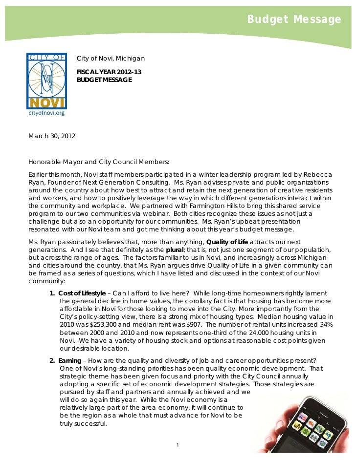 Budget Message2012 2013