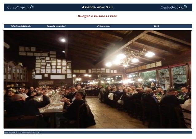 This Format is © CentoCinquanta S.r.l. Azienda wow S.r.l. Primo AnnoRiferito ad Azienda: Azienda wow S.r.l. 2013 Budget e ...