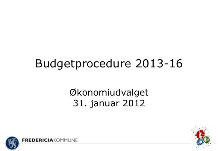 Budgetprocedure 2013 16 slidecast