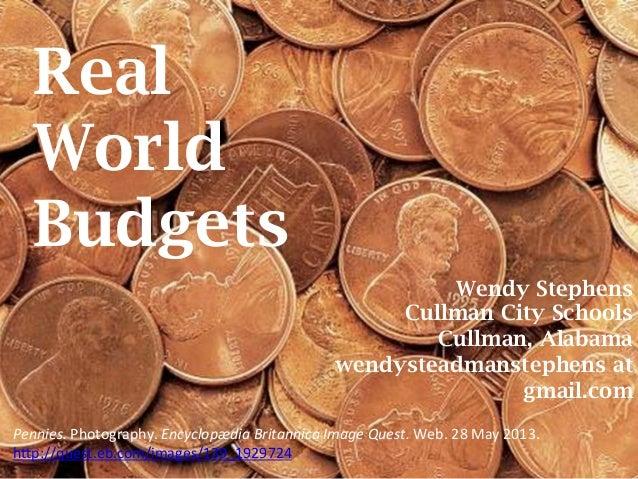 Real World Budgets -- AASL Preconference, ALA 2013