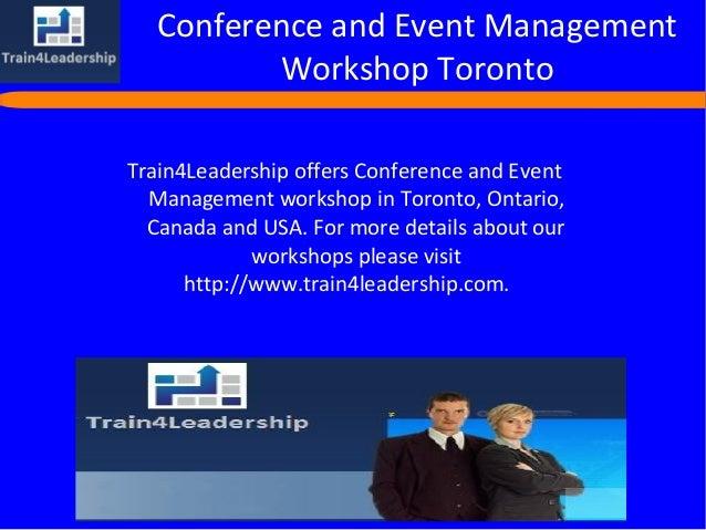 Management workshops toronto