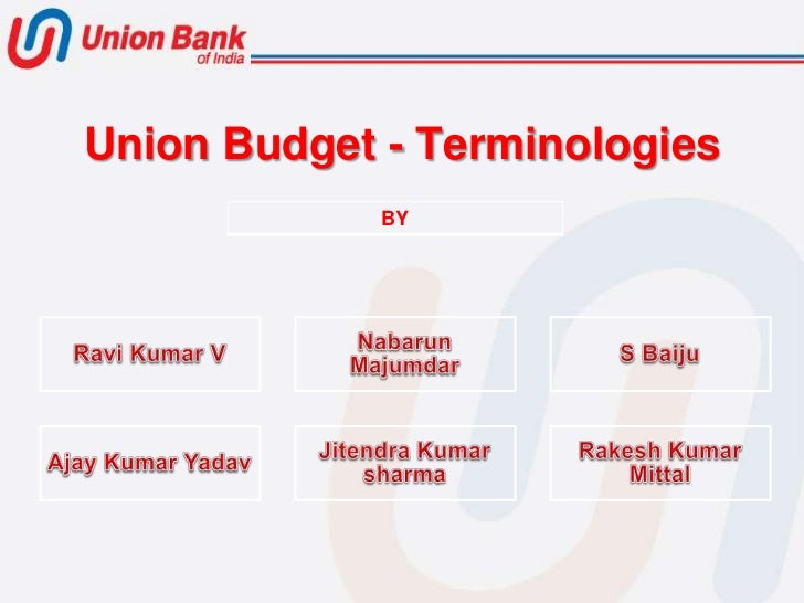 Budget terminologies1