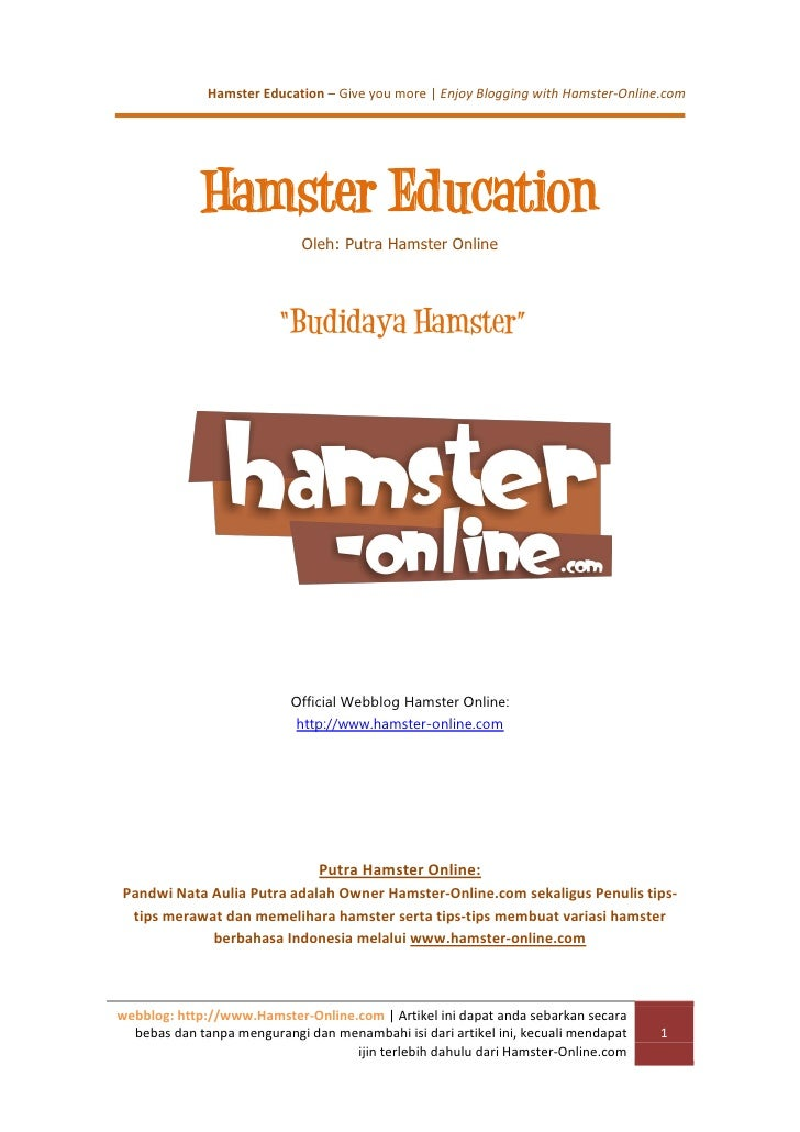 Budidaya hamster