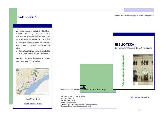 """Biblioteca Universitatii """"Dunarea de Jos"""" din Galati"""