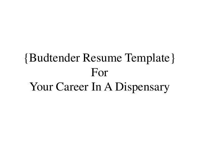 Ca Budtender Resume Example