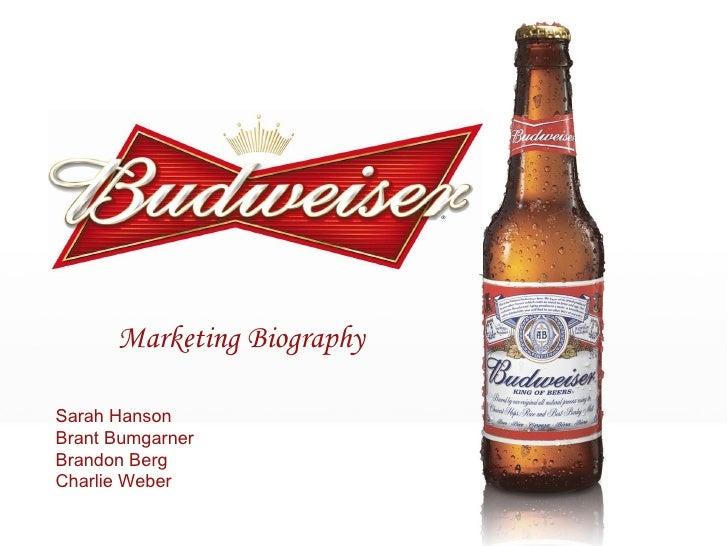 Marketing Biography Sarah Hanson Brant Bumgarner Brandon Berg Charlie Weber