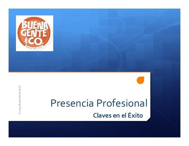 Buena Gente & Co. - Presencia Profesional