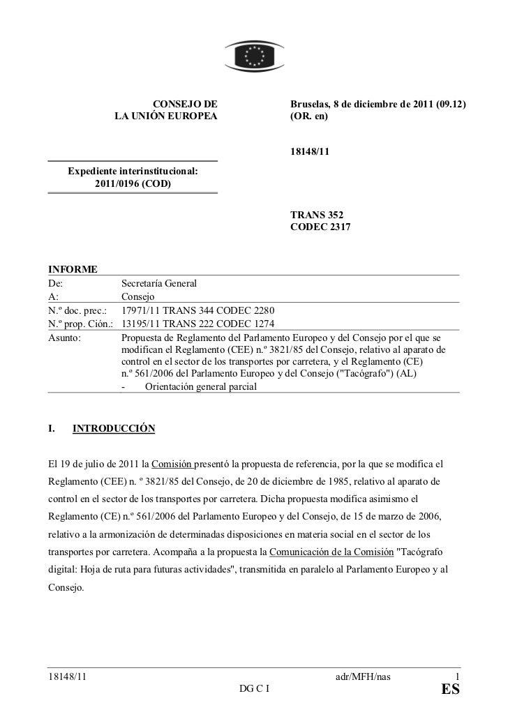 CO SEJO DE                         Bruselas, 8 de diciembre de 2011 (09.12)                   LA U IÓ EUROPEA             ...