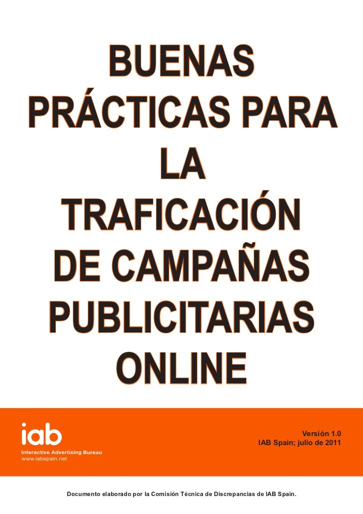 Buenas practicas Trafficking Campañas Online - IAB Spain