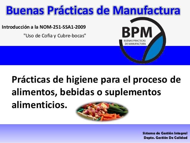 buenas pr cticas de manufactura On manual de buenas practicas de manufactura en alimentos