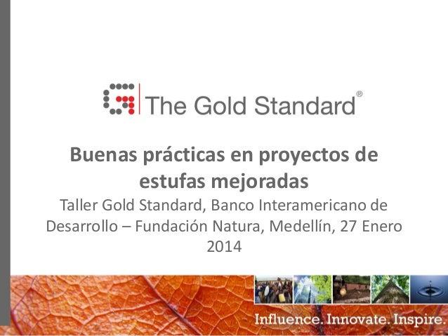 0 Buenas prácticas en proyectos de estufas mejoradas Taller Gold Standard, Banco Interamericano de Desarrollo – Fundación ...