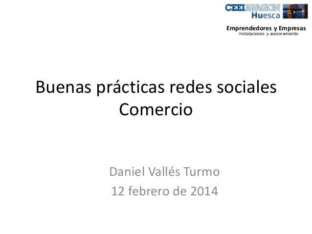 Buenas prácticas redes sociales comercio