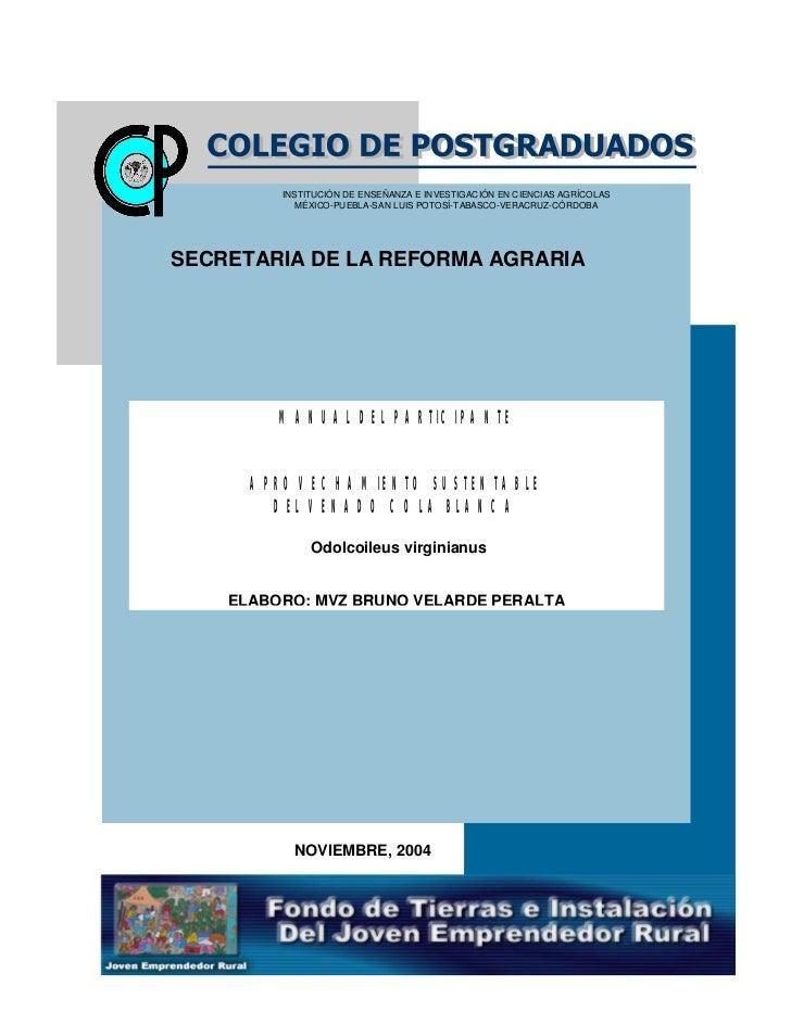 INSTITUCIÓN DE ENSEÑANZA E INVESTIGACIÓN EN CIENCIAS AGRÍCOLAS            MÉXICO-PUEBLA-SAN LUIS POTOSÍ-TABASCO-VERACRUZ-C...