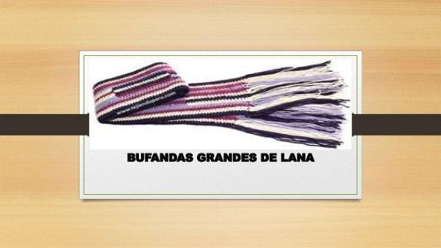 BUFANDAS GRANDES DE LANA