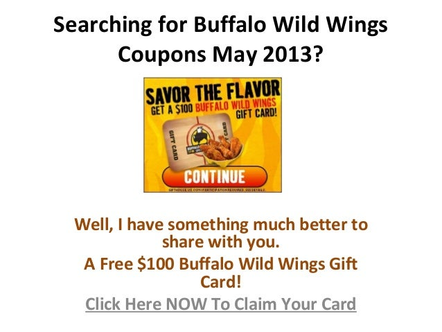 Buffalo wild wings survey coupon code
