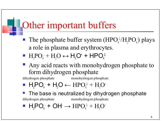 Carbonic >> Buffer in the blood