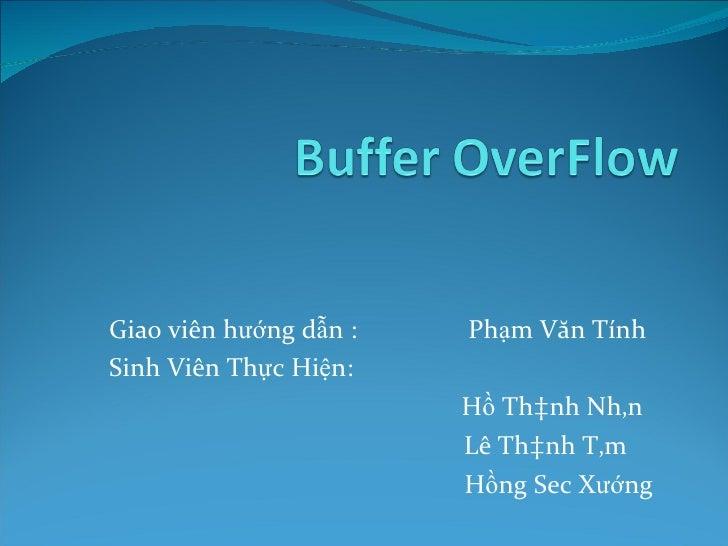 Buffer overflow(bao cao)