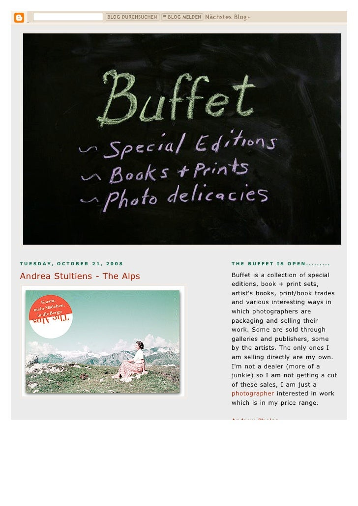 Buffet  Andrea Stultiens The Alps