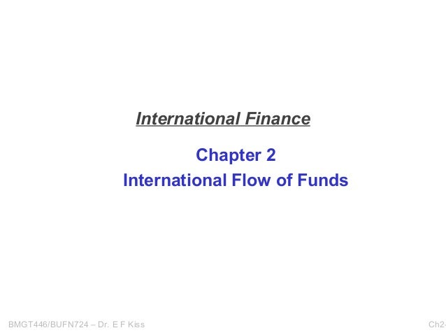 International Finance Chapter 2 International Flow of Funds  BMGT446/BUFN724 – Dr. E F Kiss  Ch2-
