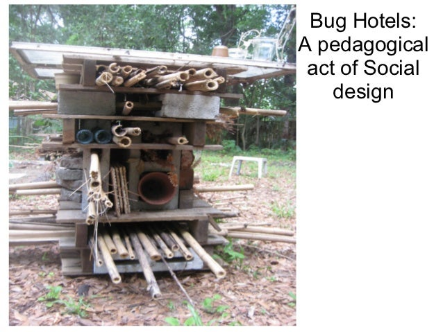 Bug Hotels:A pedagogical act of Social    design