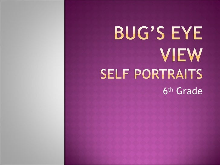 Bug's eye view examples