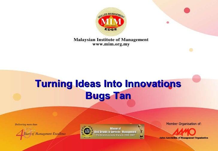 Bugs Talk At MIM 11th Dec 2009