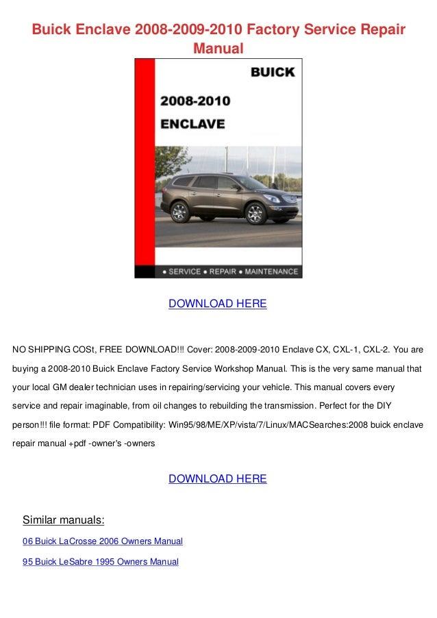 Buick Enclave 2008 2009 2010 Factory Service Repair Manual