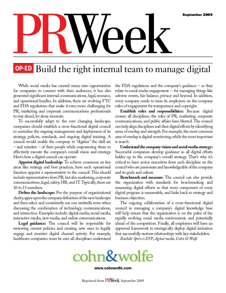 Building the right internal team for digital