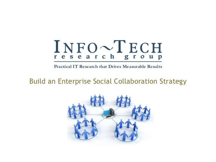 Build an enterprise social collaboration strategy