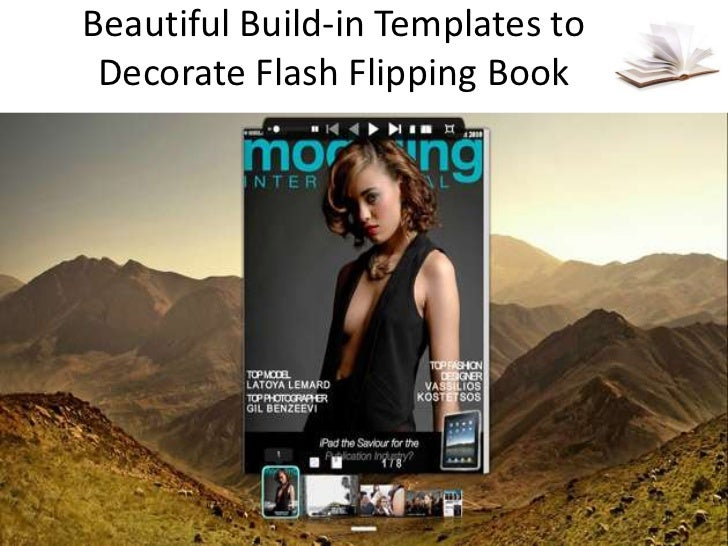 Build in templates to decorate flash flipping book