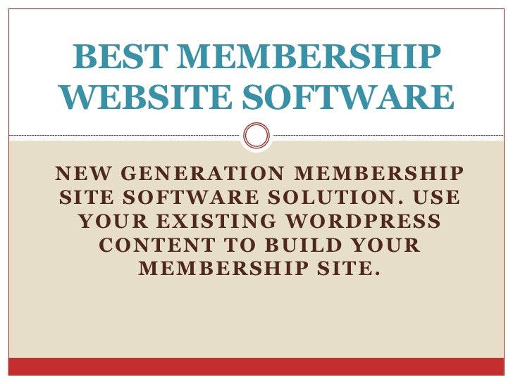 Best Script to Build Membership Websites