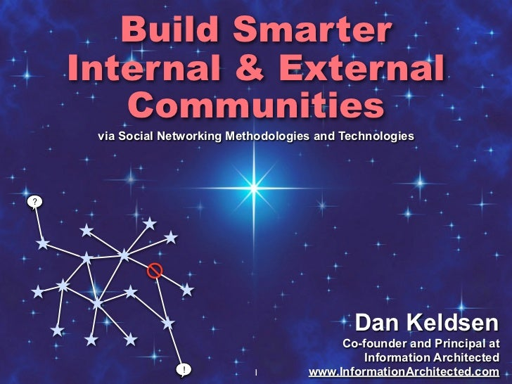 Build Smarter     Internal & External        Communities      via Social Networking Methodologies and Technologies     ?  ...