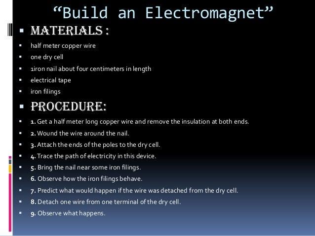 Build An Electromagnet