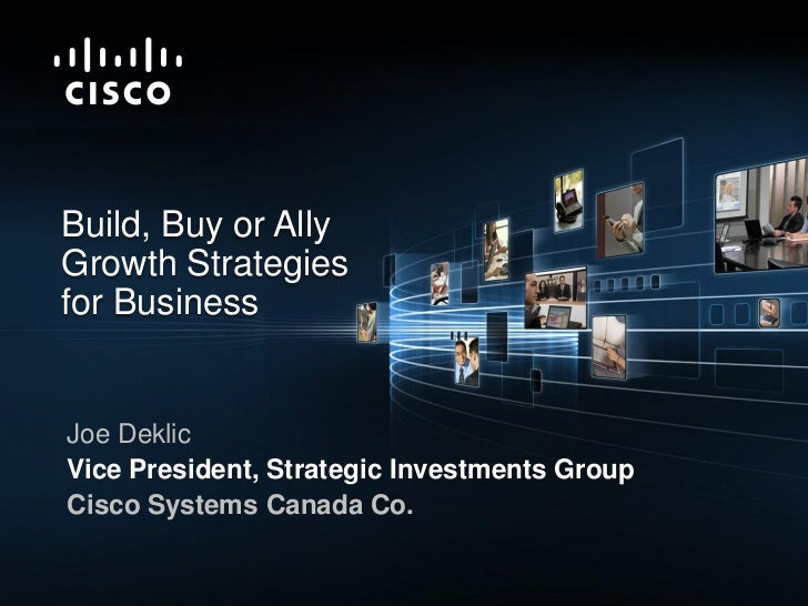 Build, Buy or Ally Growth Strategies for Business
