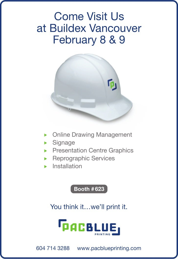 PacBlue Printing at Buildex Vancouver 2012