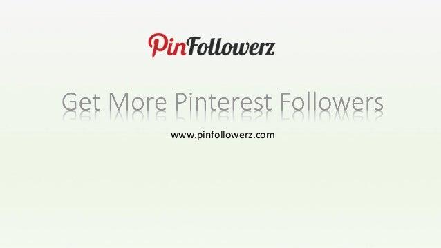 Build followers on pinterest