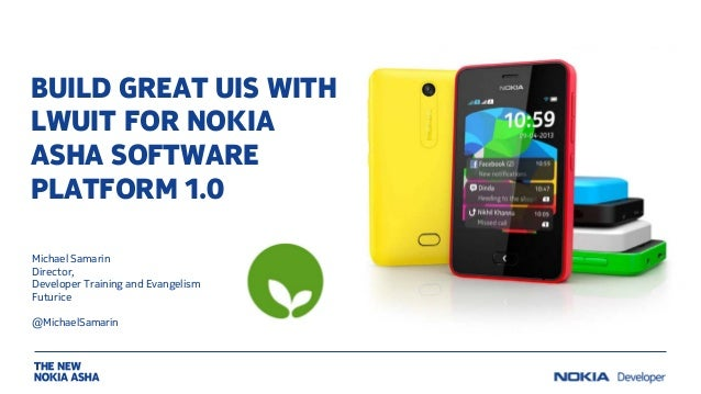 Build great UIs with LWUIT for Nokia Asha software platform 1.0