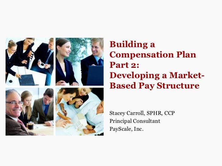 Building a Compensation Plan Part 2: Develop a Market-Based Pay Structure