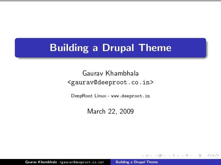 Building Drupal 6 Theme