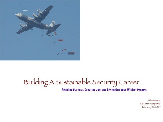 Building A Sustainable Security Career