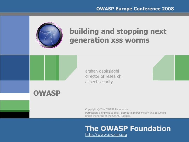 Building And Stopping Next Generation Xss Worms