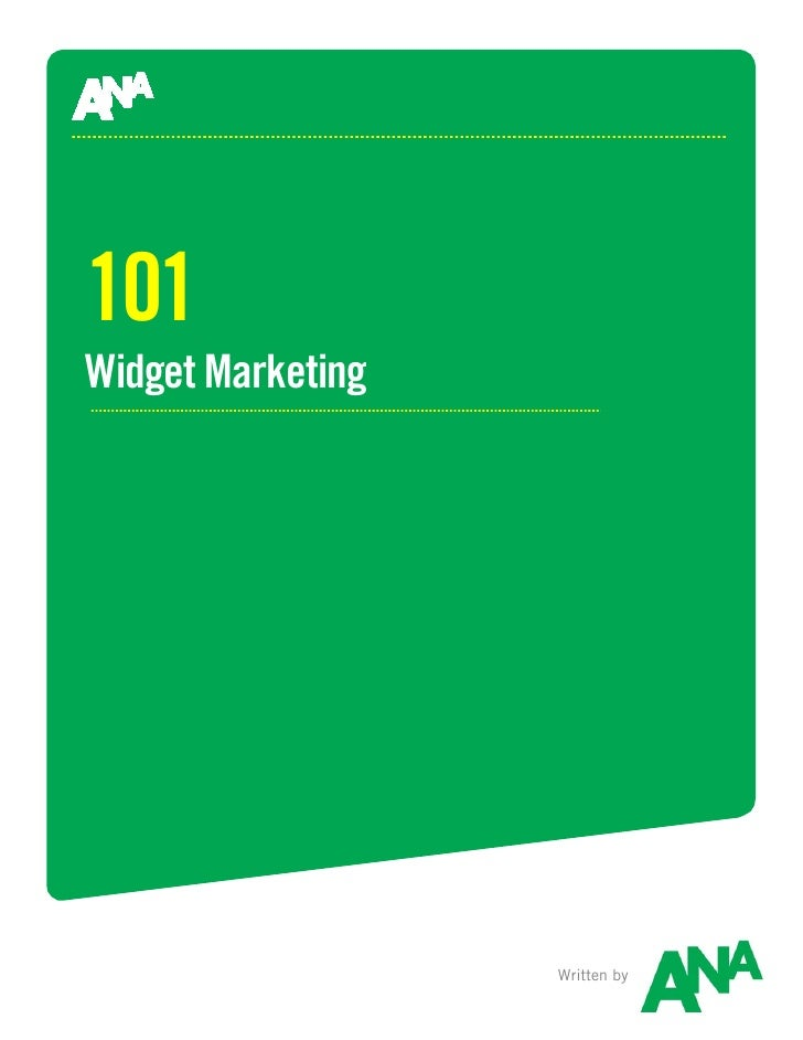 Widget Marketing 101