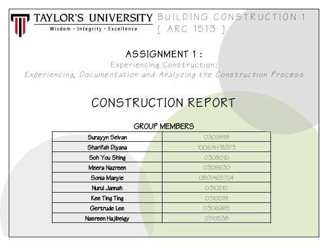 Building construction-report (1)