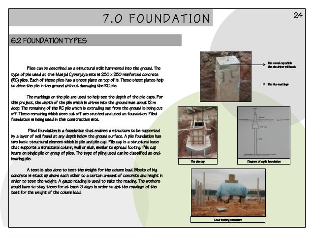 Building construction report 1 for Procedure to build a house