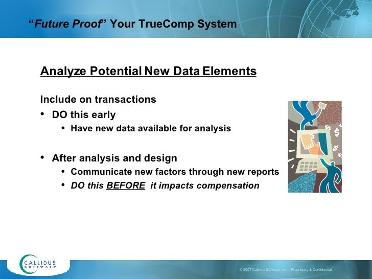 """ Future Proof "" Your Truecomp"