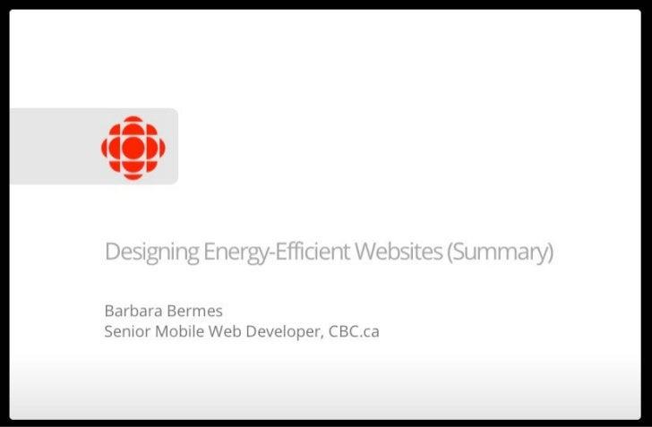 Building Energy-Efficient Websites